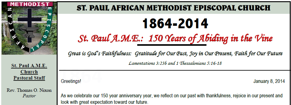 Pastors message 150th st paul ame picture m4hsunfo